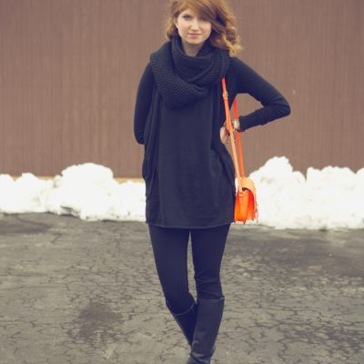 outfit: pop of neon