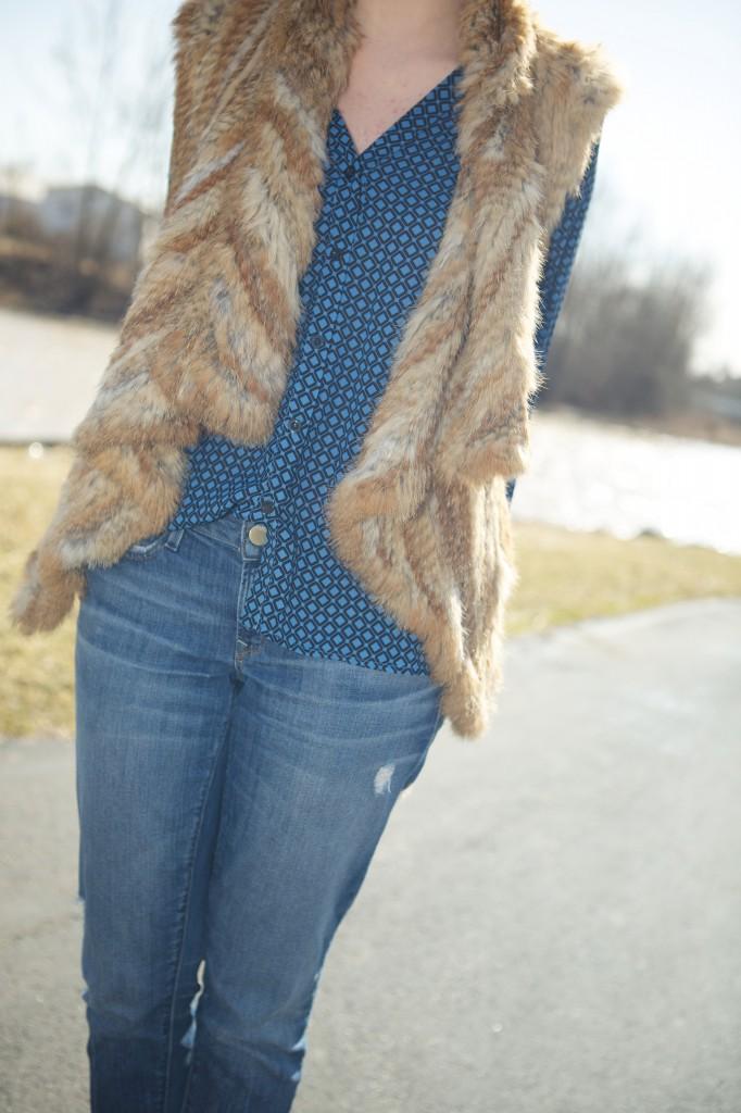 geometric shirt and fur 1