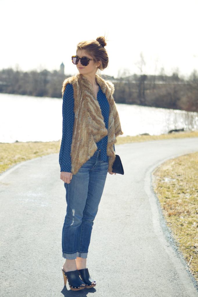 geometric shirt and fur