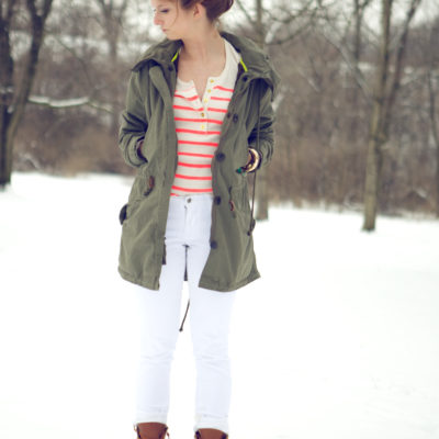 outfit: winter white