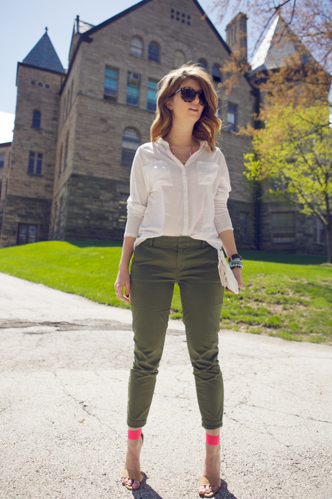 army green pants 1