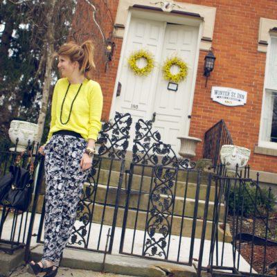 outfit:floral pants