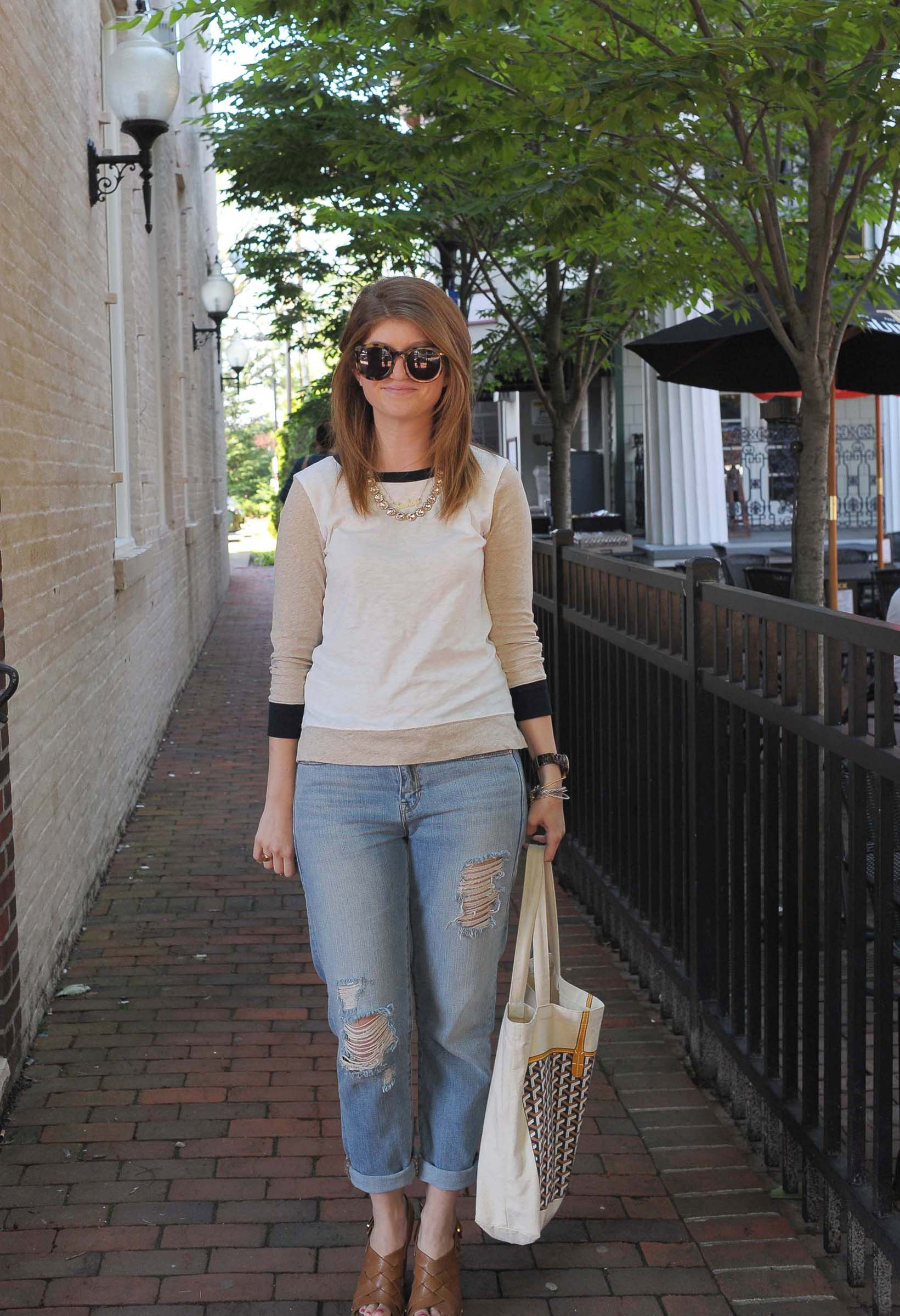 Outfit: [chic] baseball tee