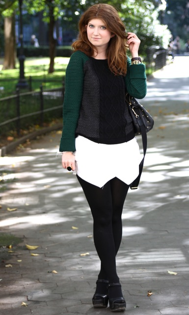 outfit: skorting in fall
