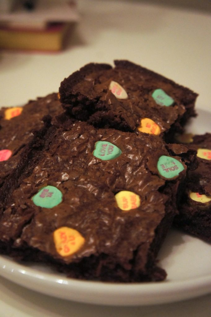 convection heart brownies