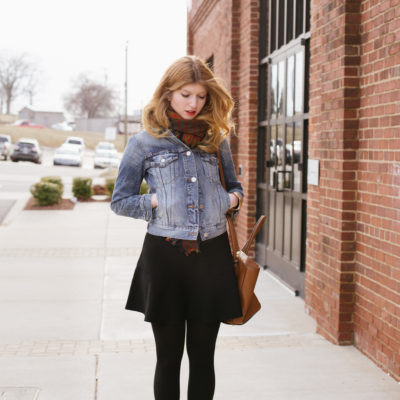 outfit: winter denim