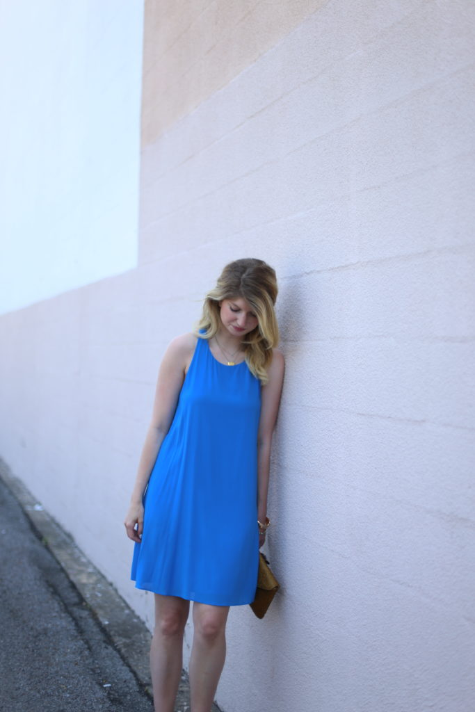 little blue dress