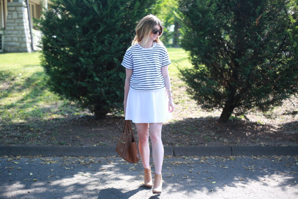how to transition your white dress to fall