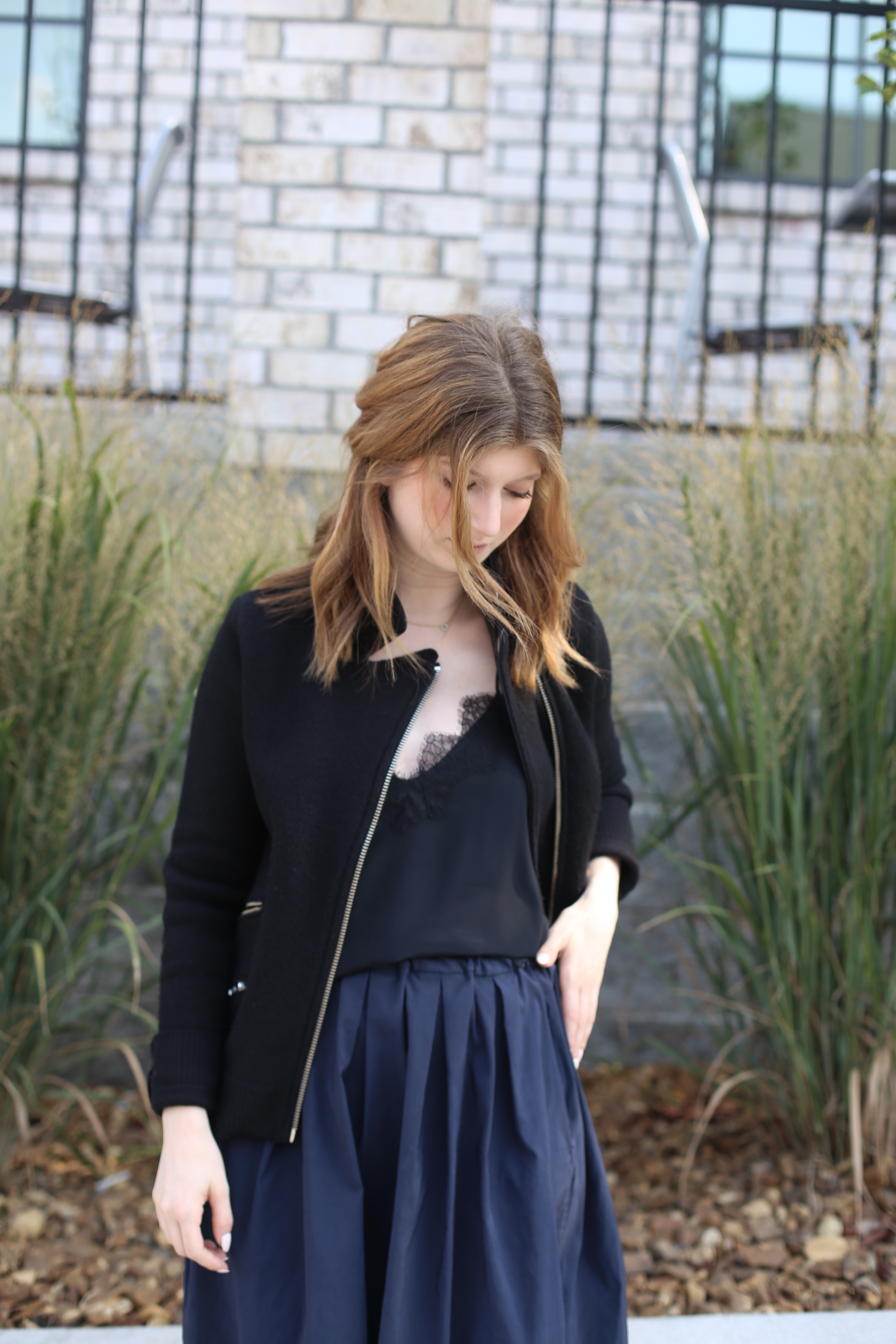 black and blue outfit - ann mashburn