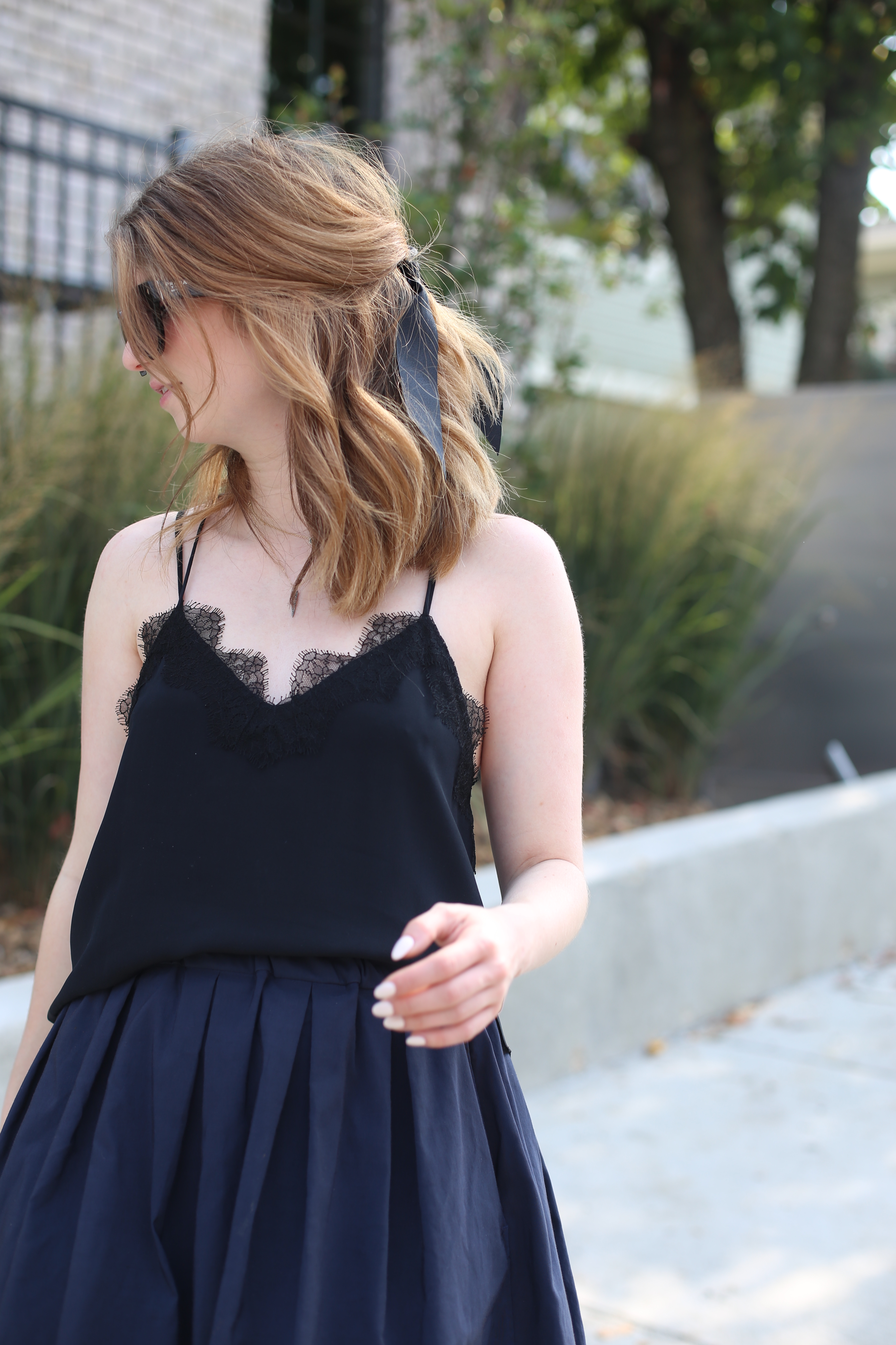black and blue outfit - cami nyc-