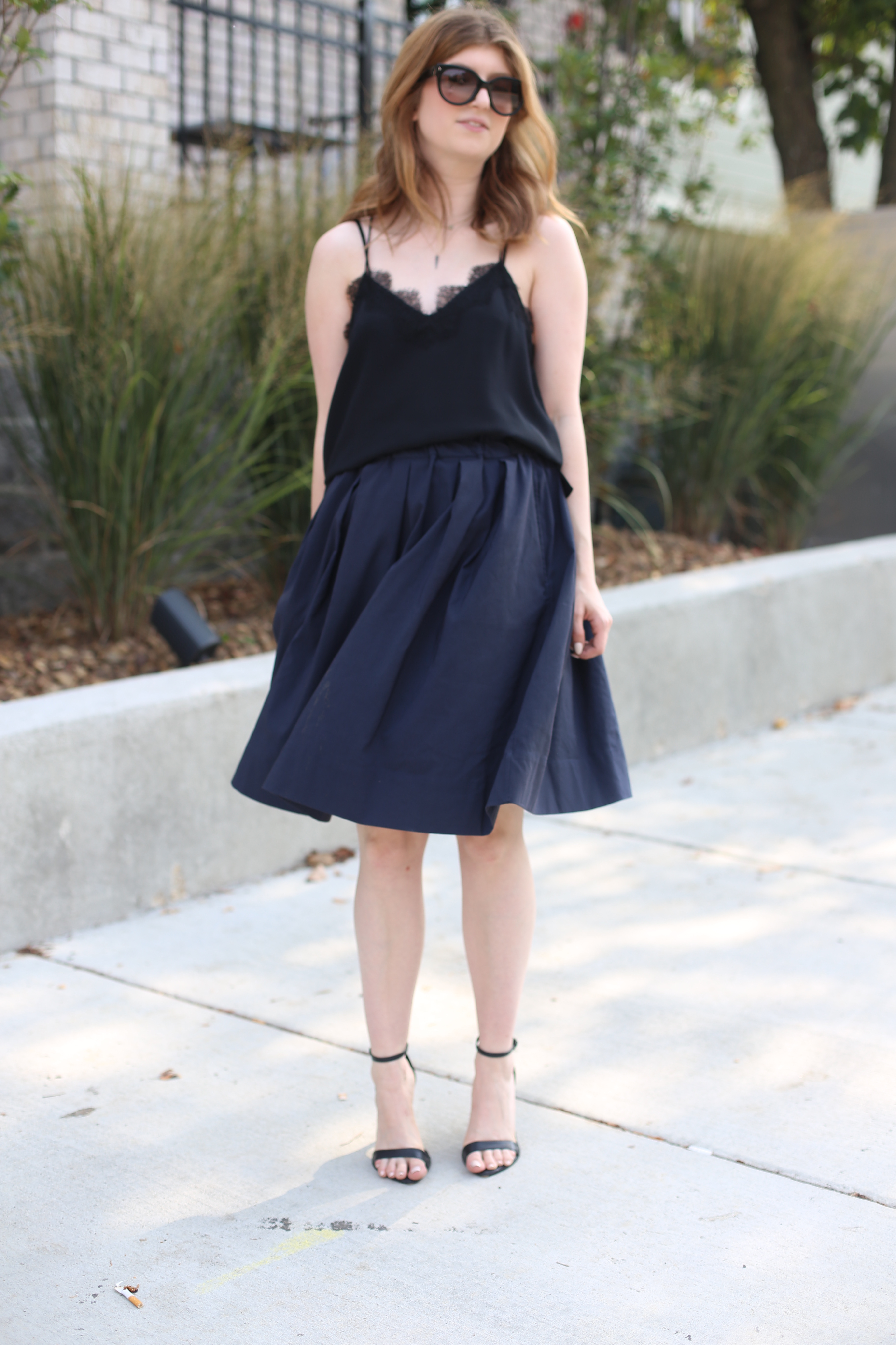 black and blue outfit - cami nyc - ann mashburn outfit