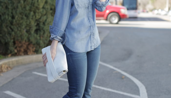 outfit: denim on denim