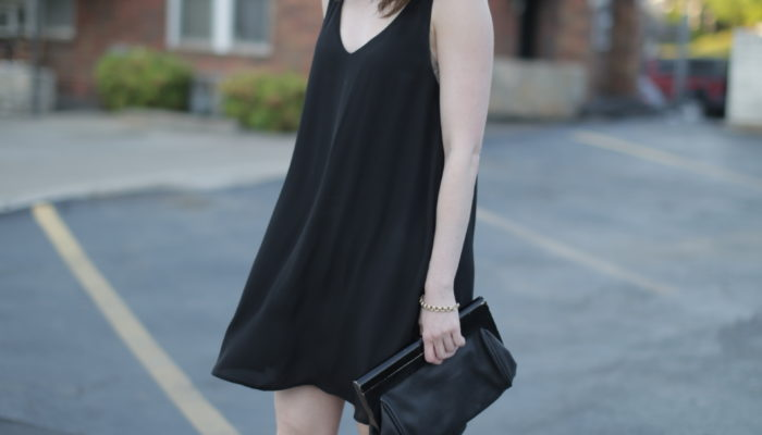 outfit: easy little black dress