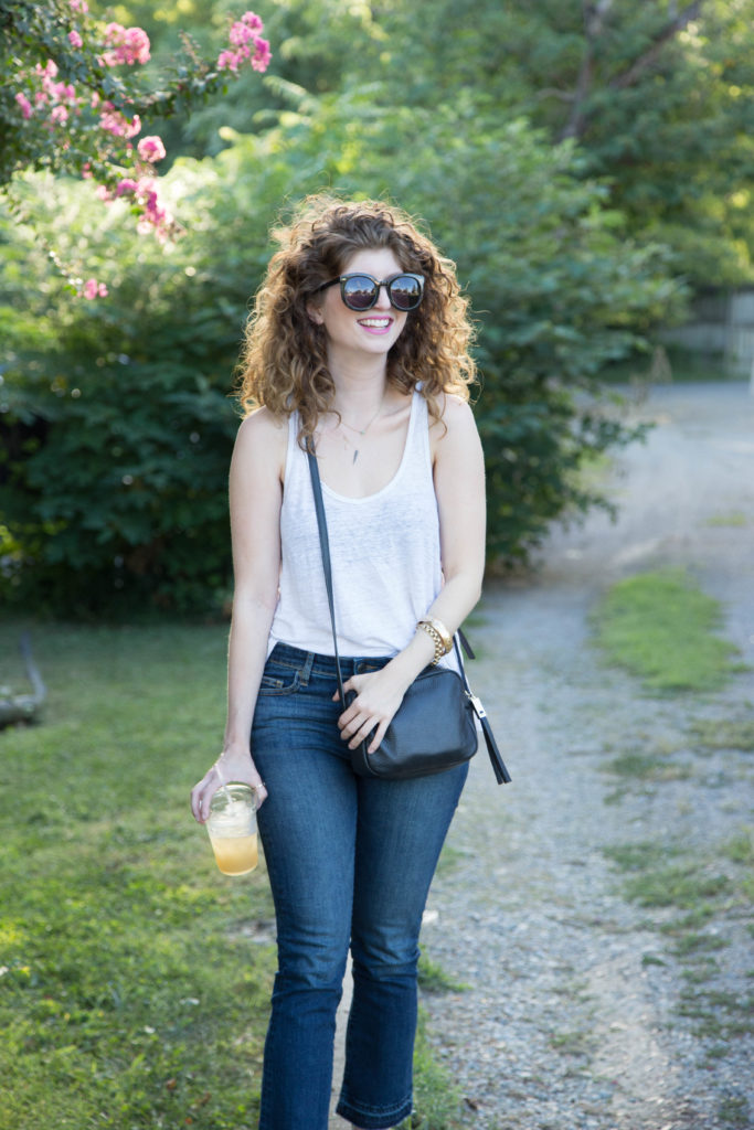 kick crop jeans outfit