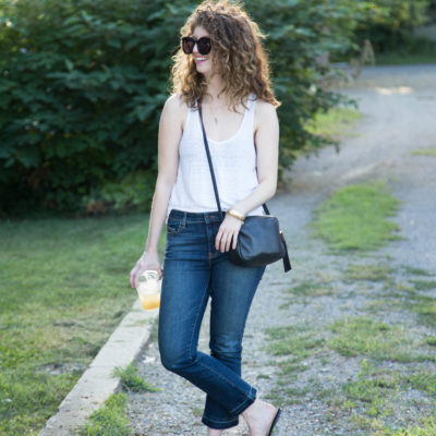 outfit: kick crop flare jeans