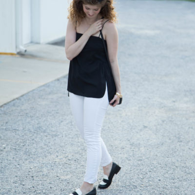 outfit: black & white