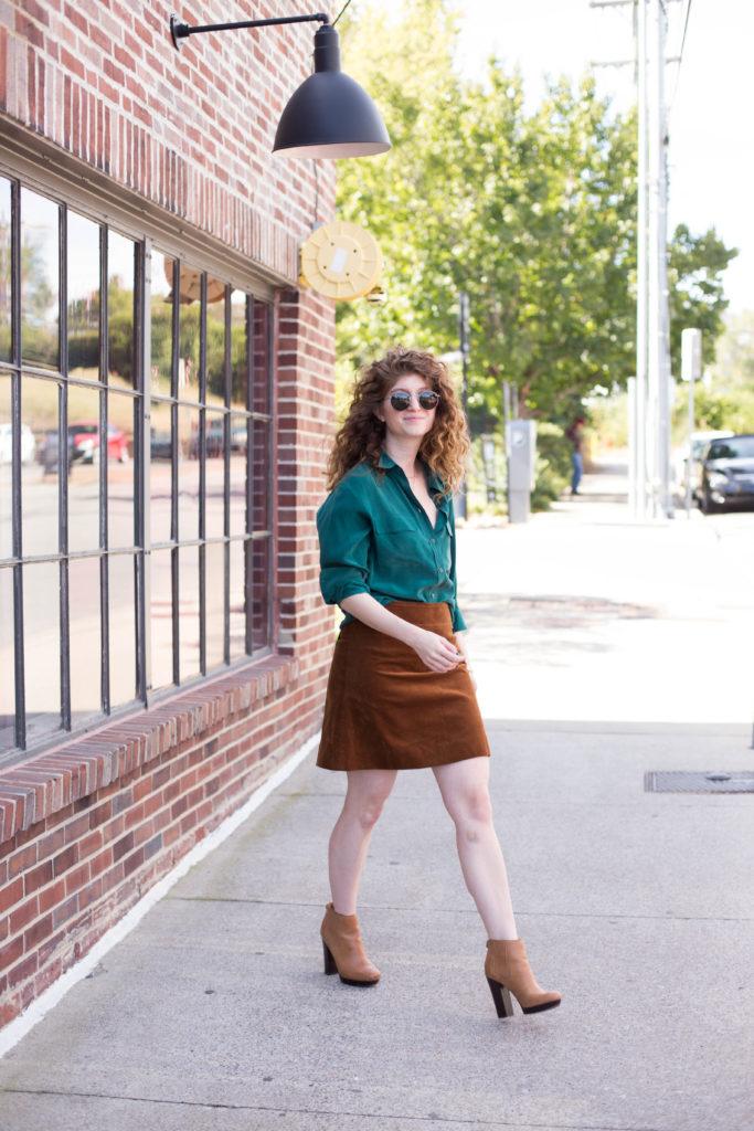 fall mini skirt- jcrew skirt- fall outfit