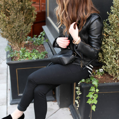 leather jacket- coach leather jacket - vince loafers