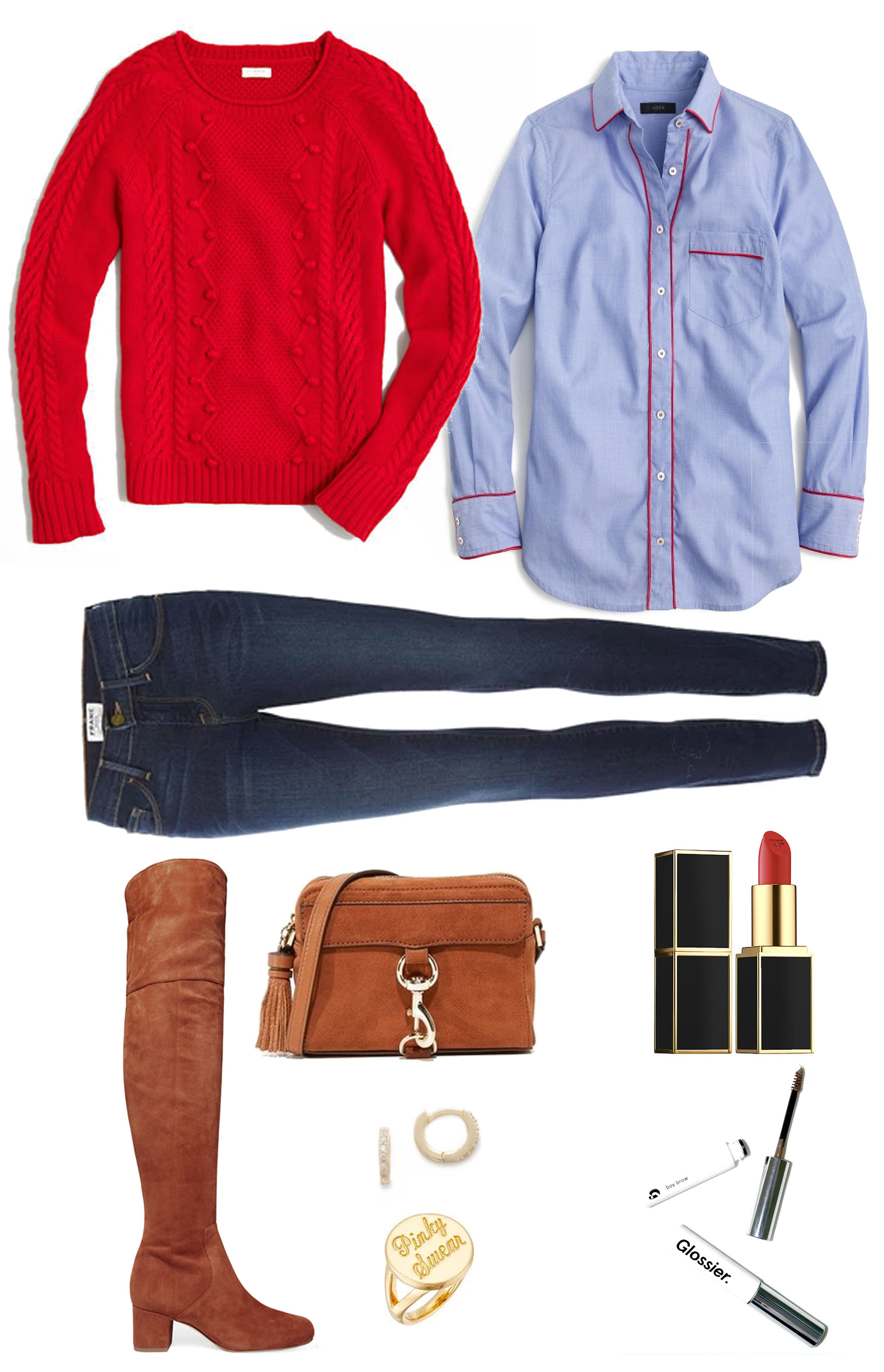 casual holiday outfit - jcrew sweater
