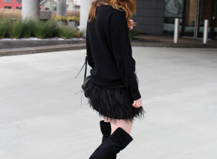 feather skirt - 360 cashmere - otk boots