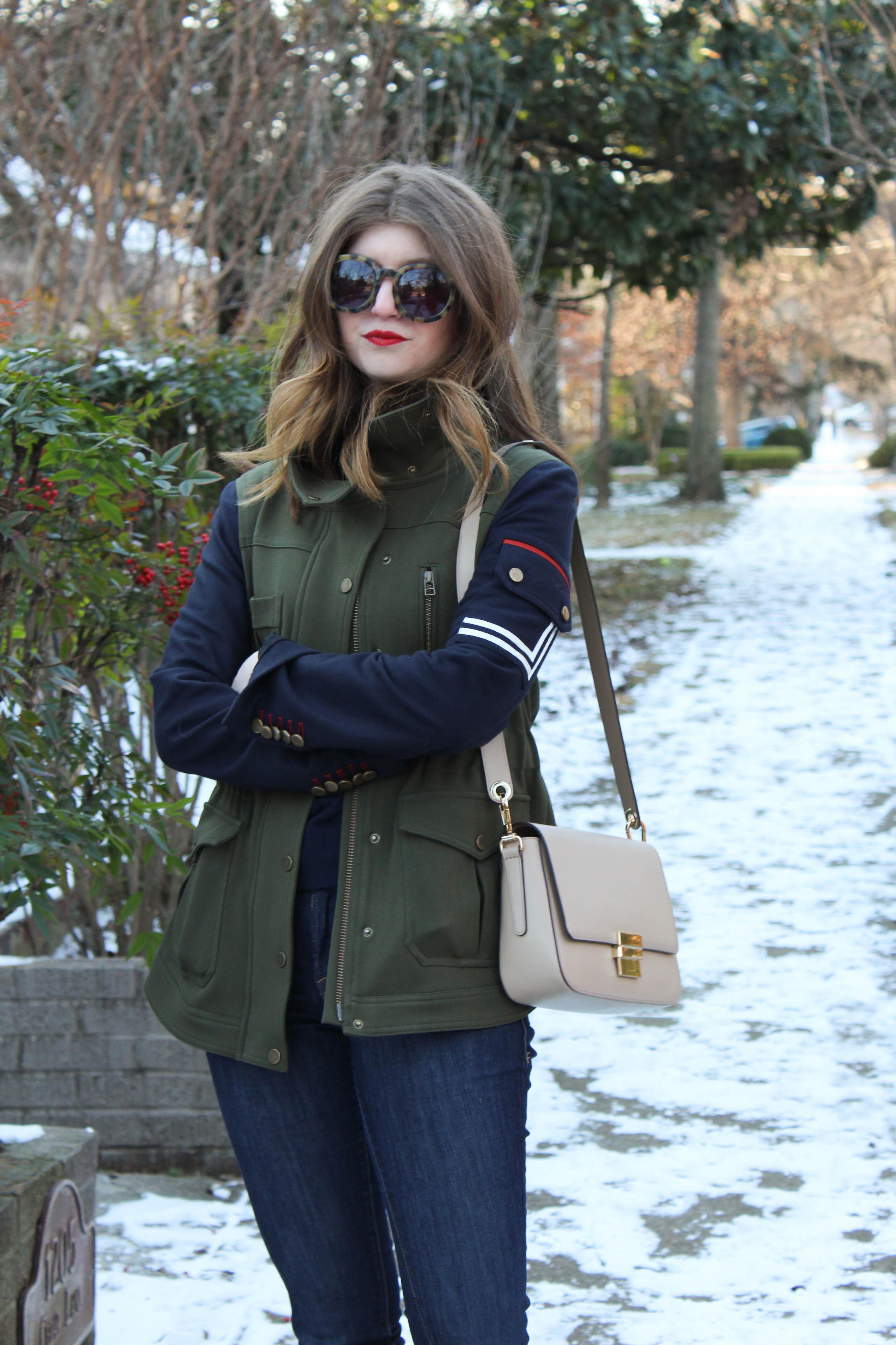veronica beard jacket - army jacket