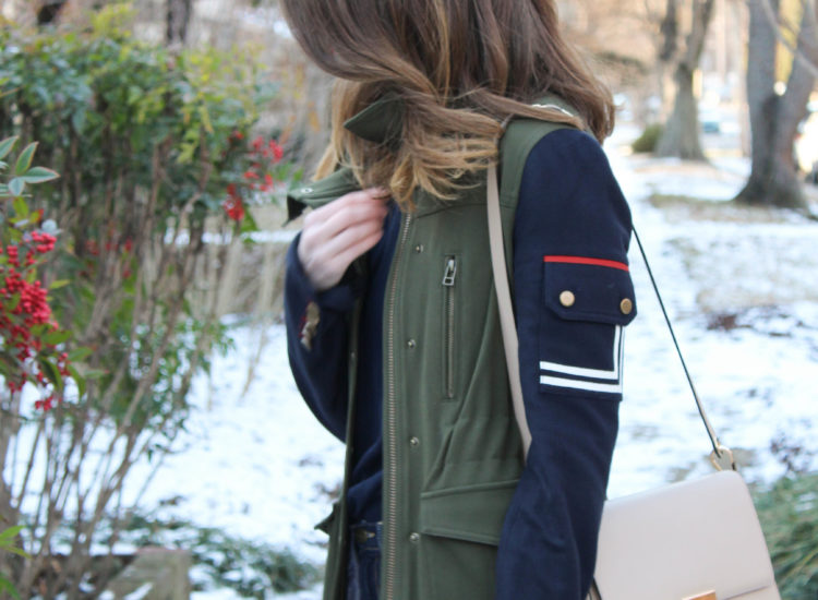 veronica beard jacket - army jacket
