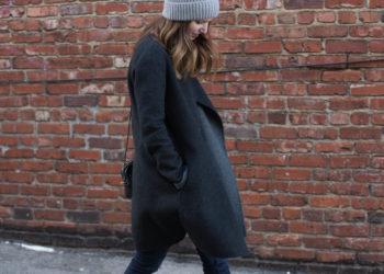 winter style - vince coat -fur beanie