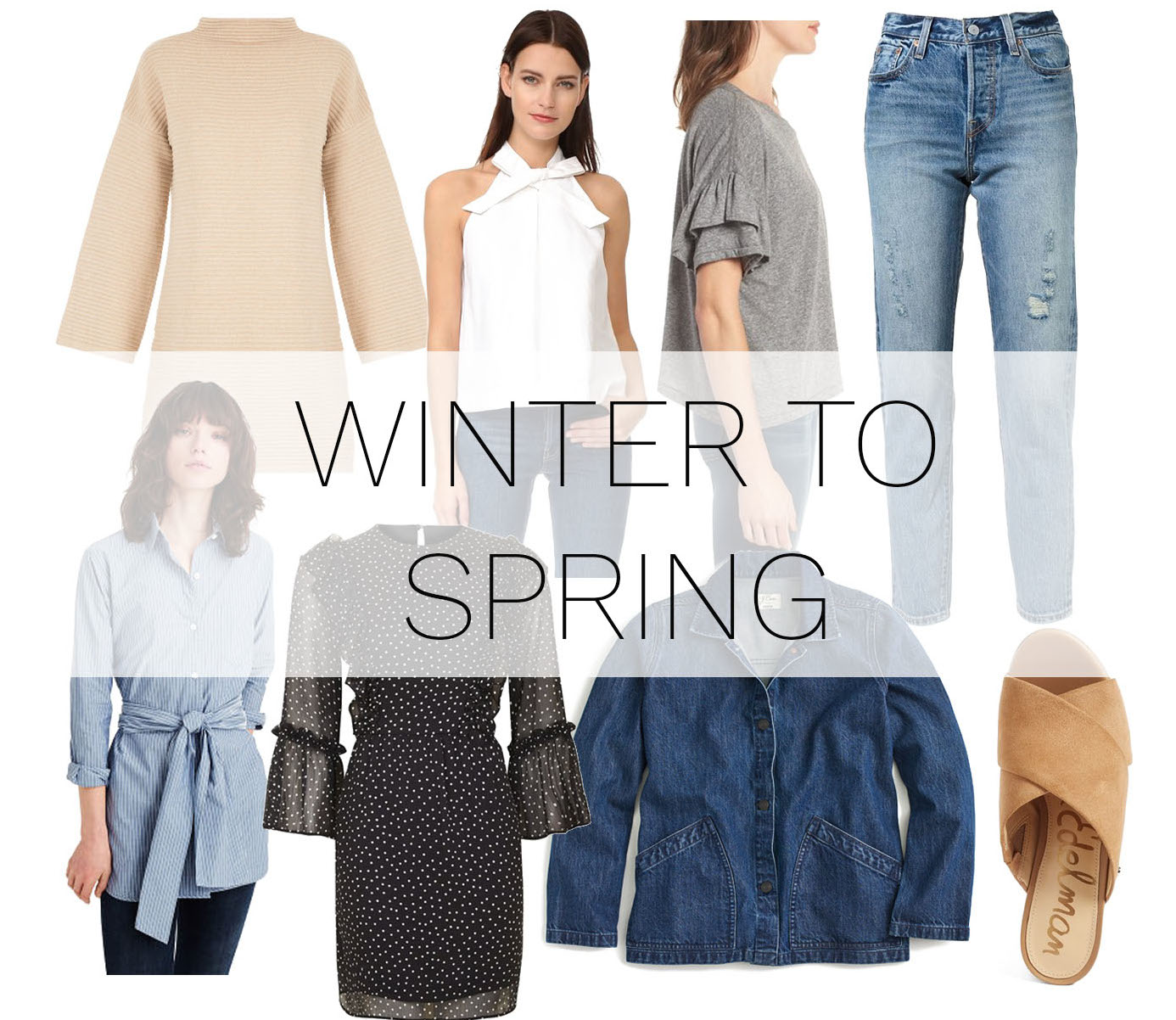 buy now wear now & later | winter to spring