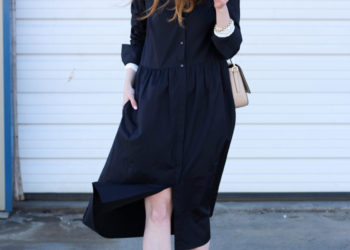 vince shirtdress - how to layer - vince dress