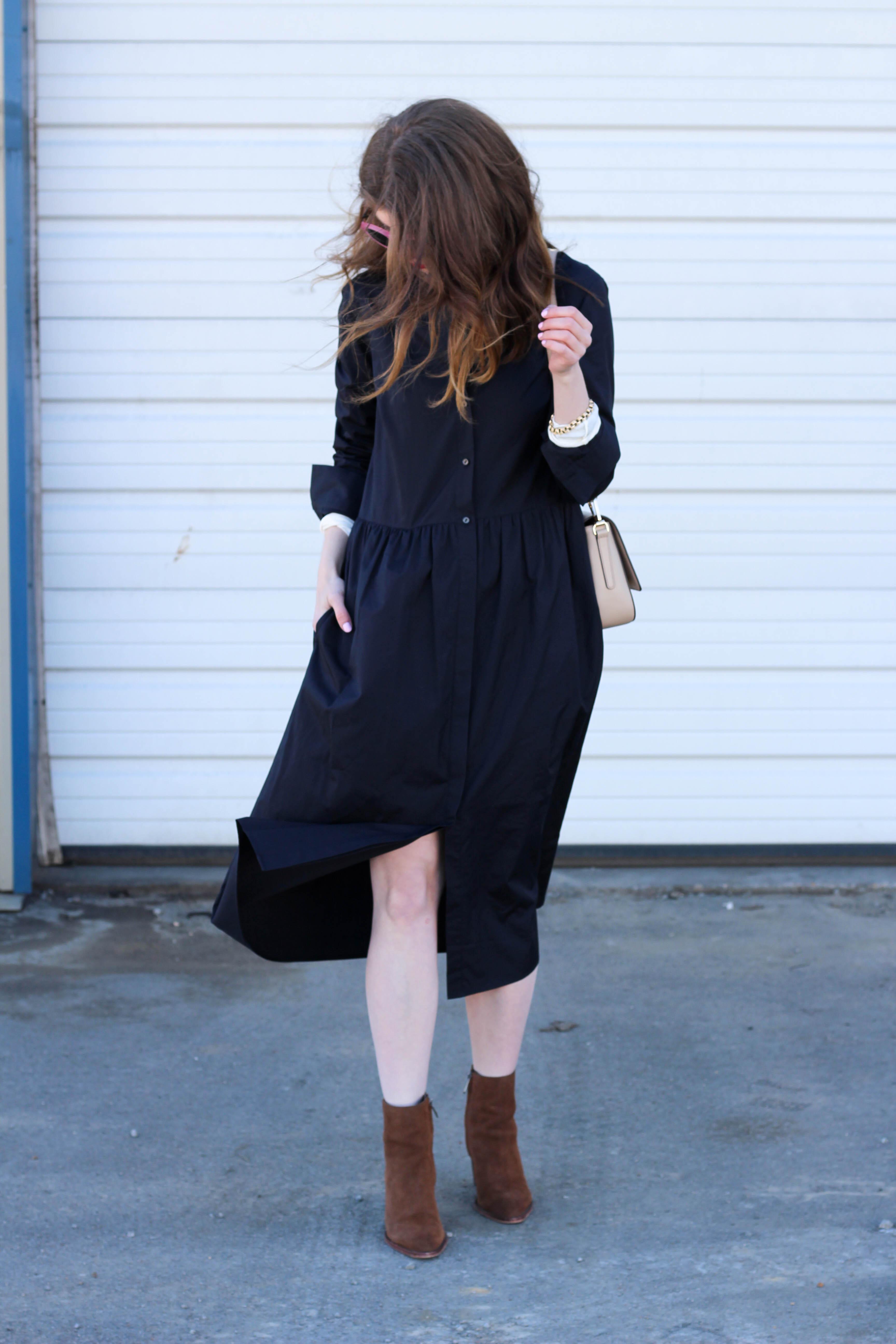 outfit: Layered shirtdress