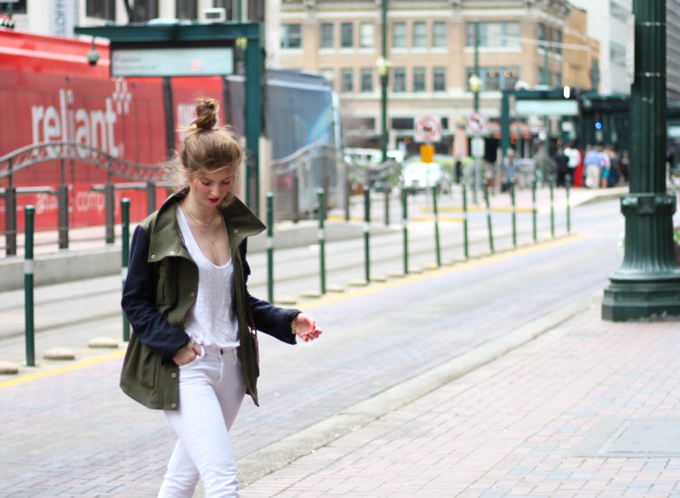 all white-spring-utility jacket outfit
