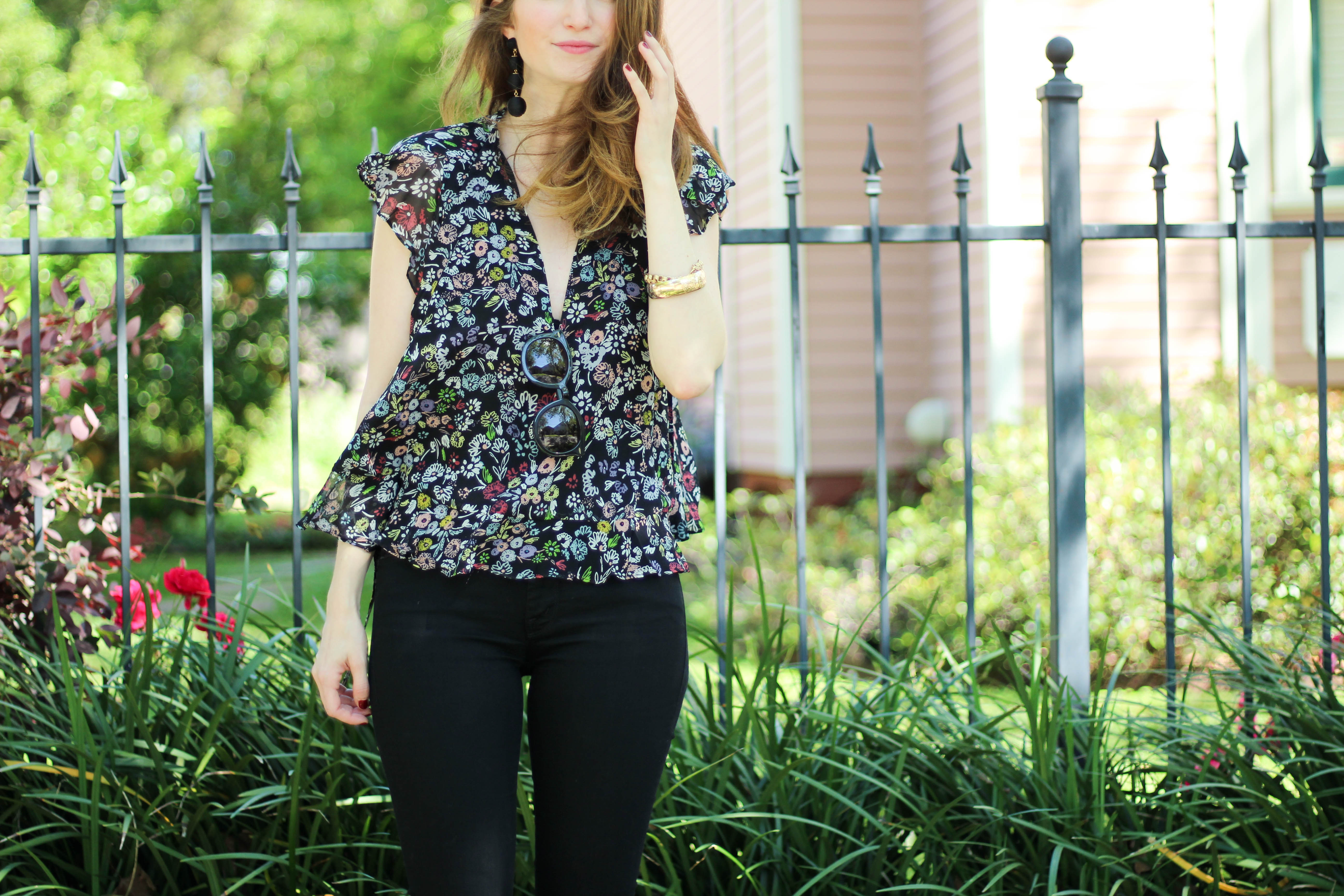 outfit: floral blouses