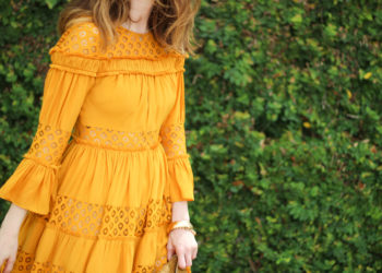mustard yellow dress-
