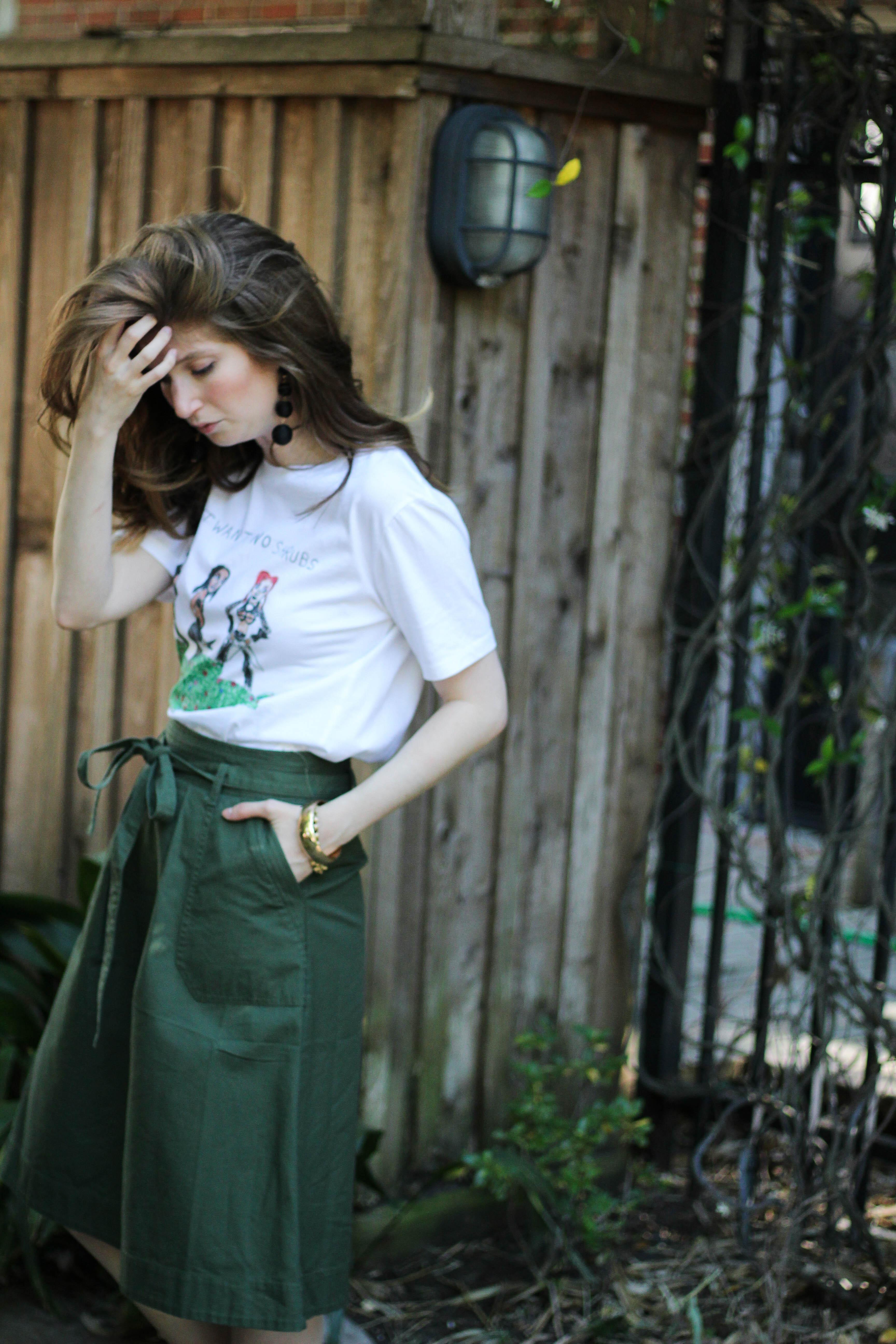 unfortunate portrait - gap skirt