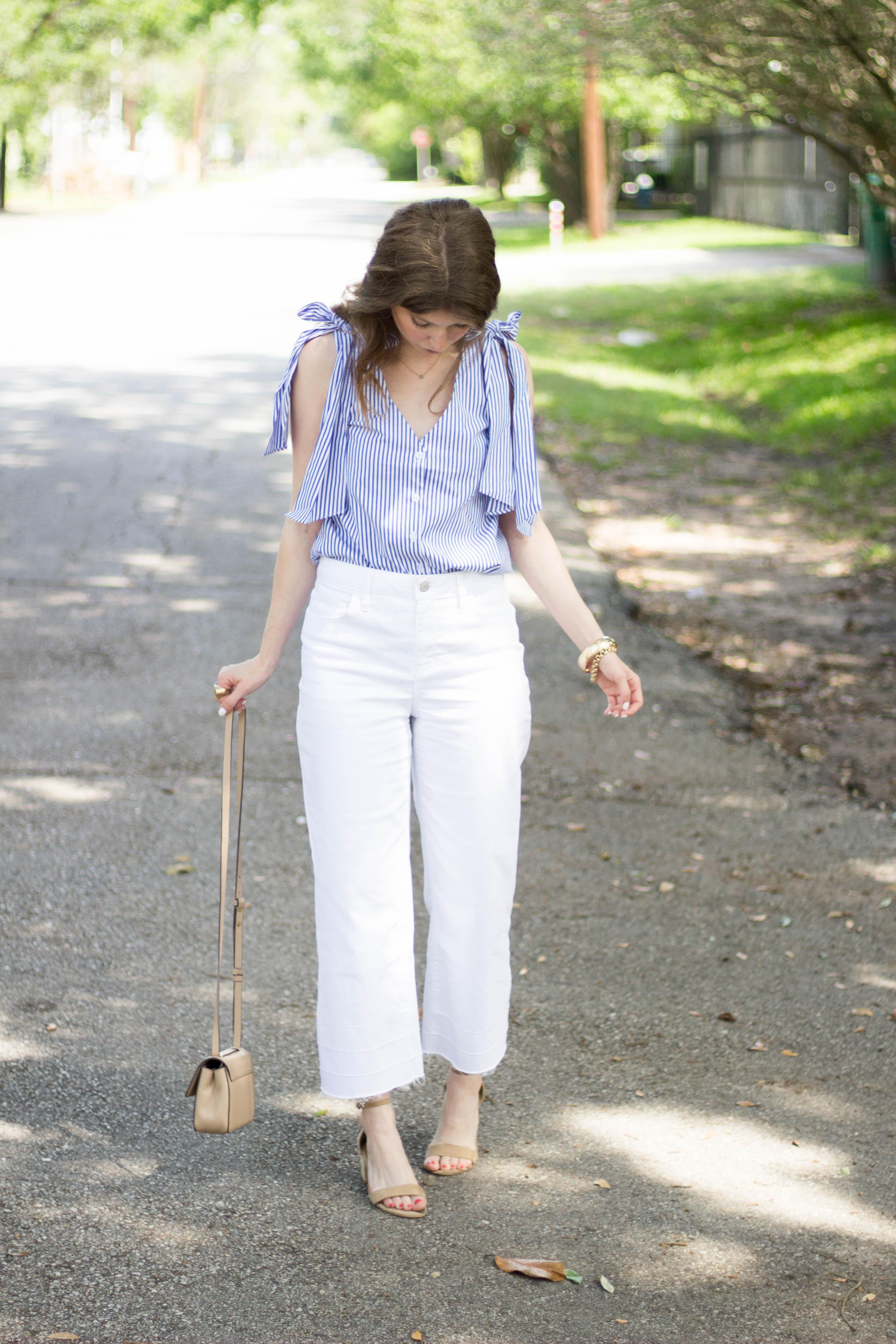 j.o.a top // wide leg jeans