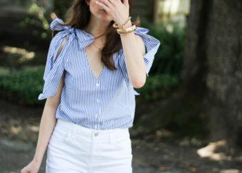 outfit: shoulder bows