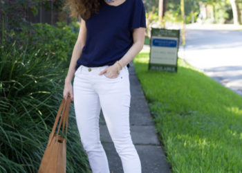 outfit: navy tee