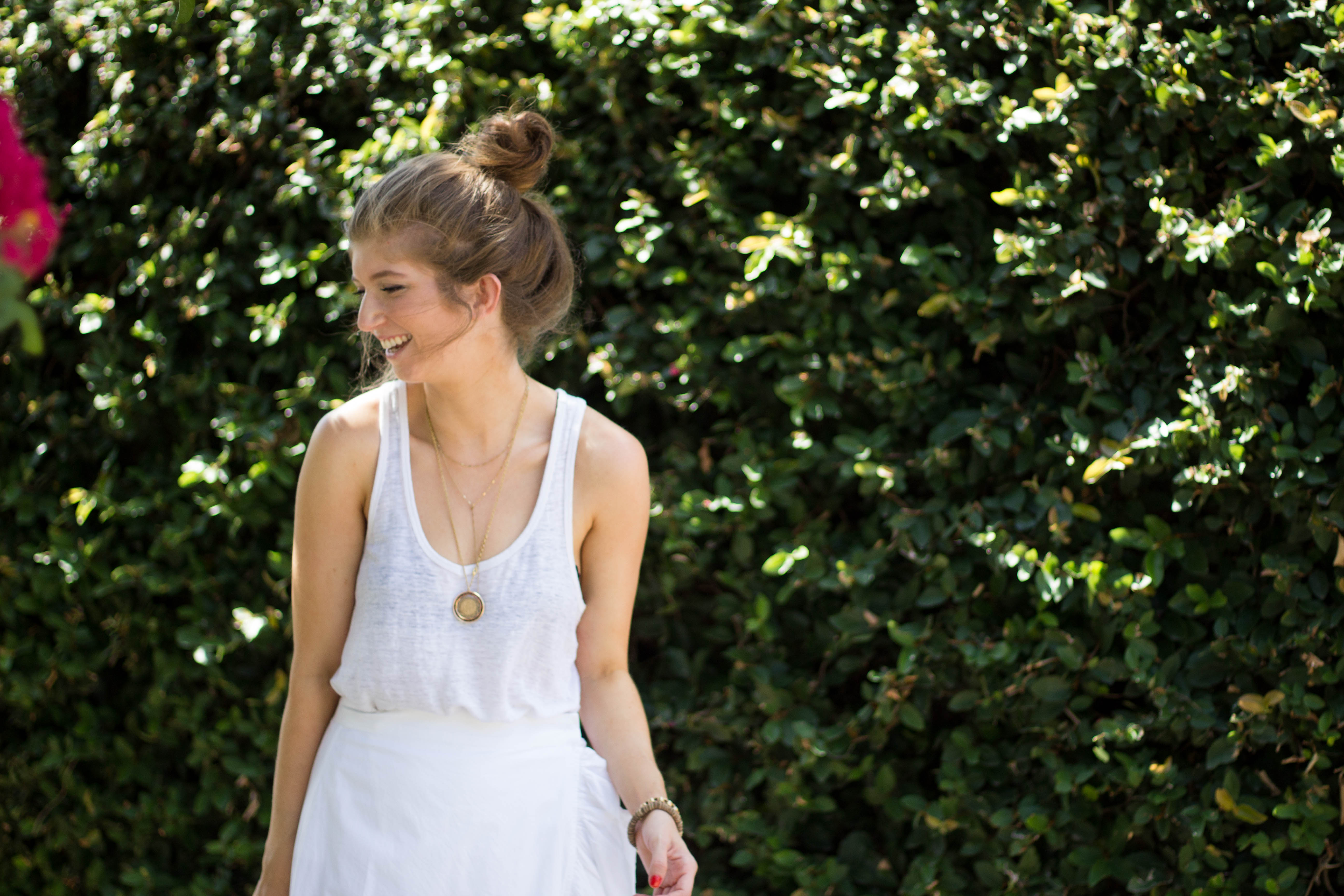 outfit: white ruffles
