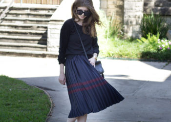 Pleated Midi Skirt Styled for Work