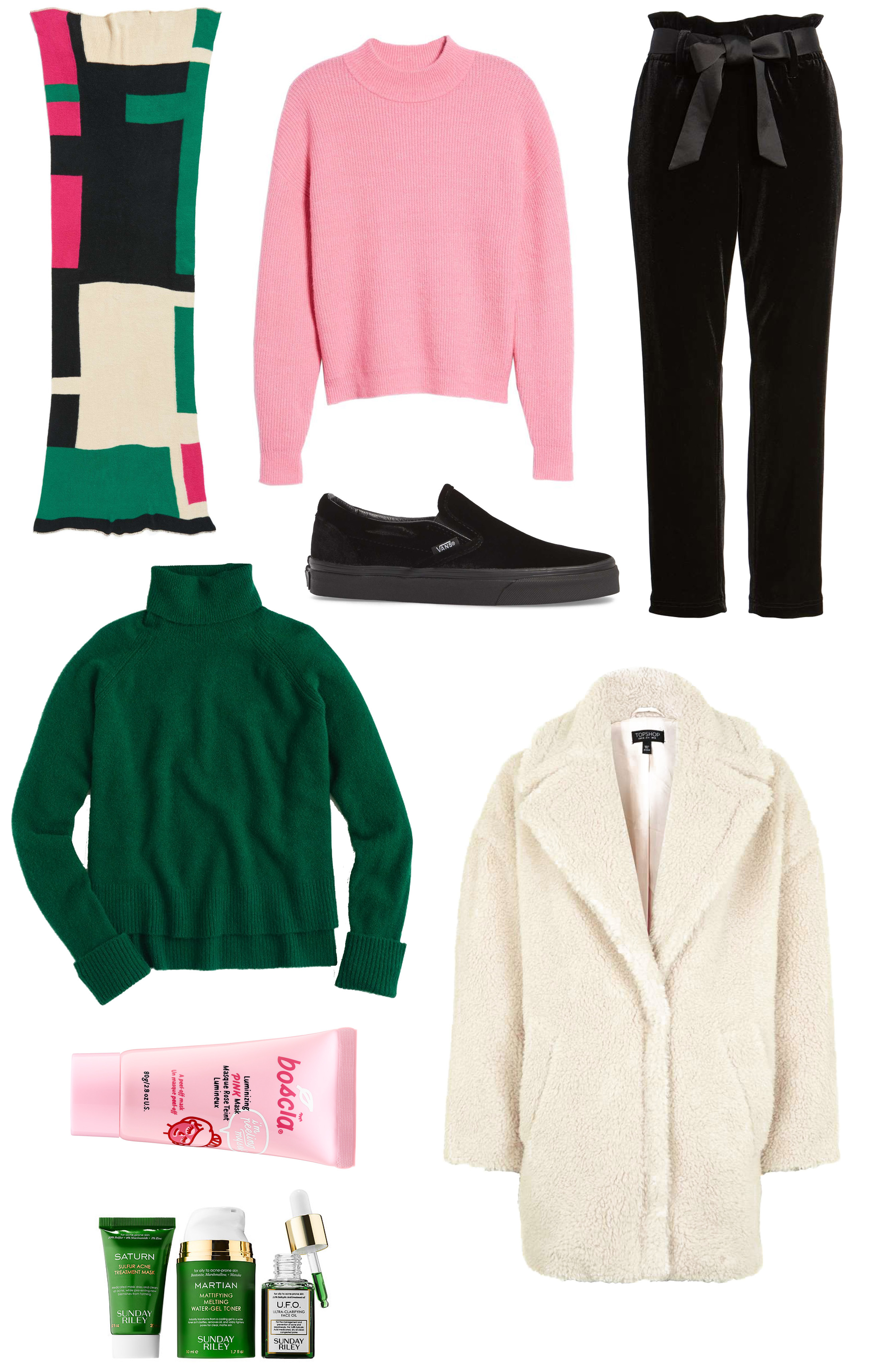 Pink, Green and Black