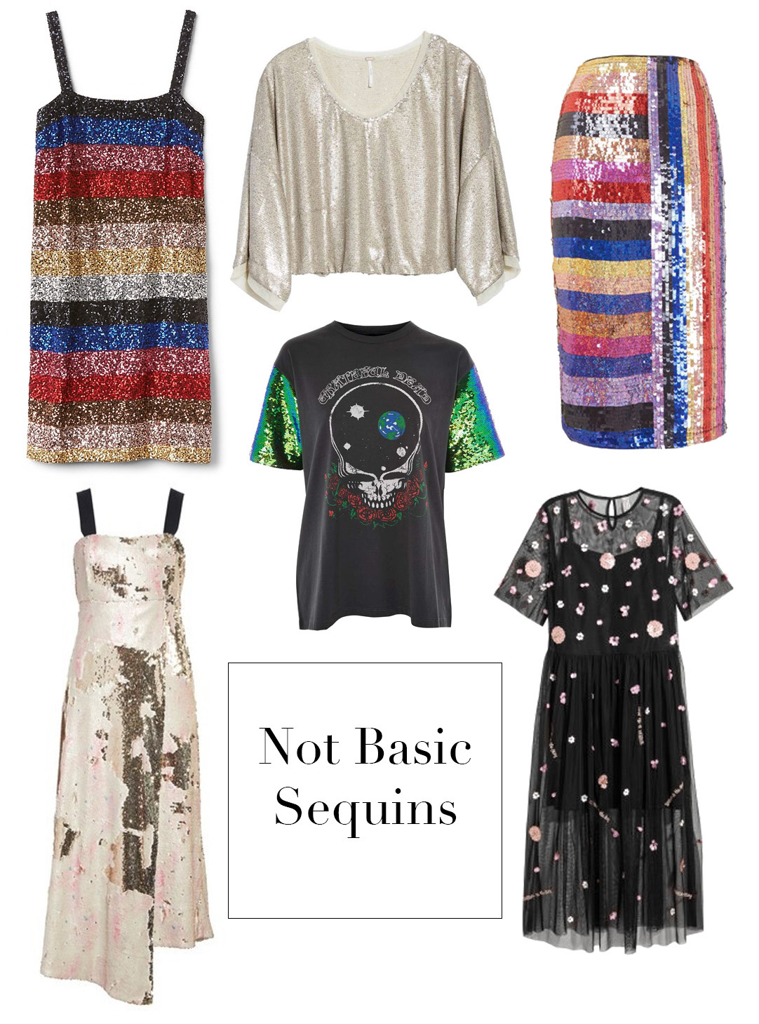 sequins, chic sequins, not basic sequin options