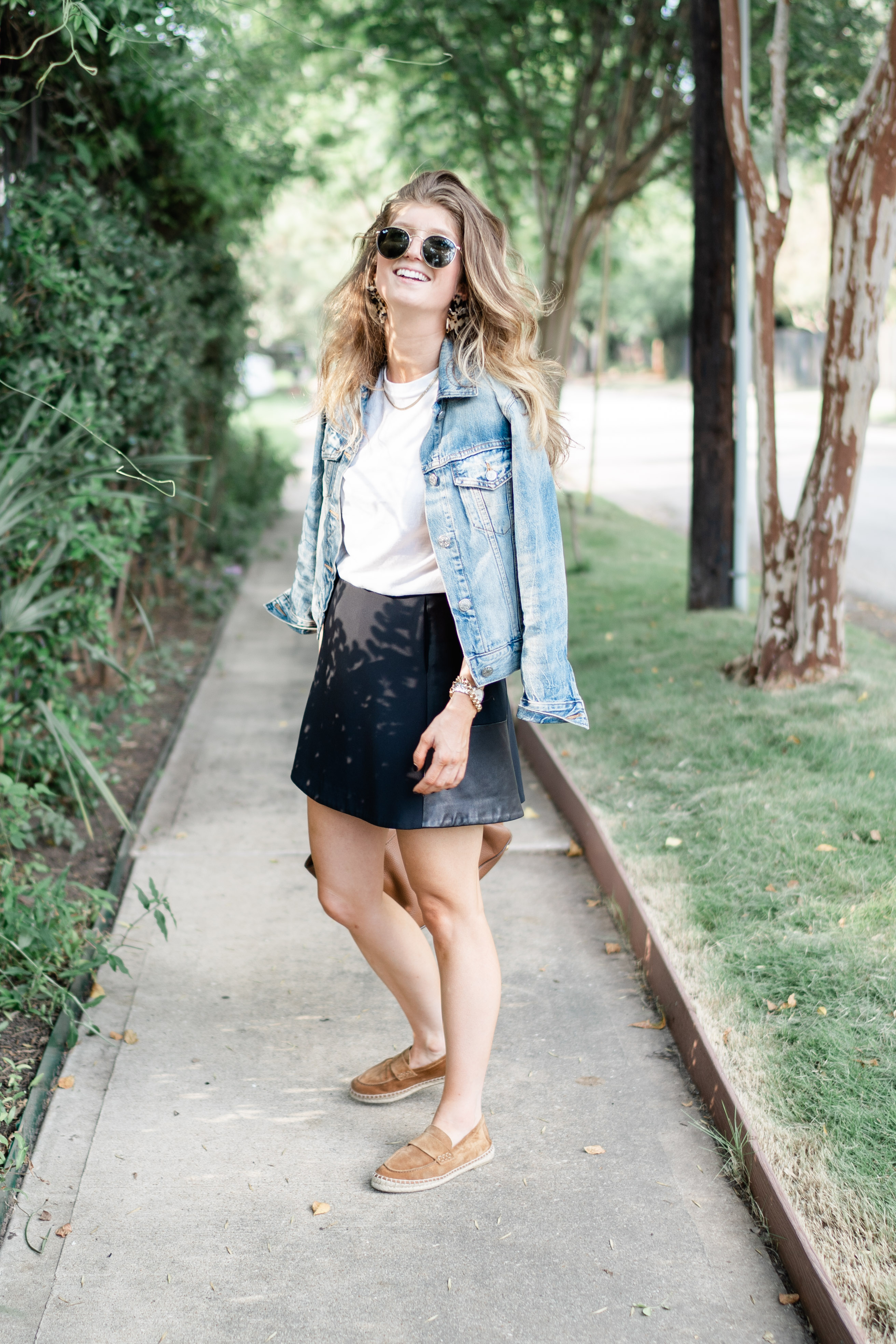 Transitional Black Mini Skirt