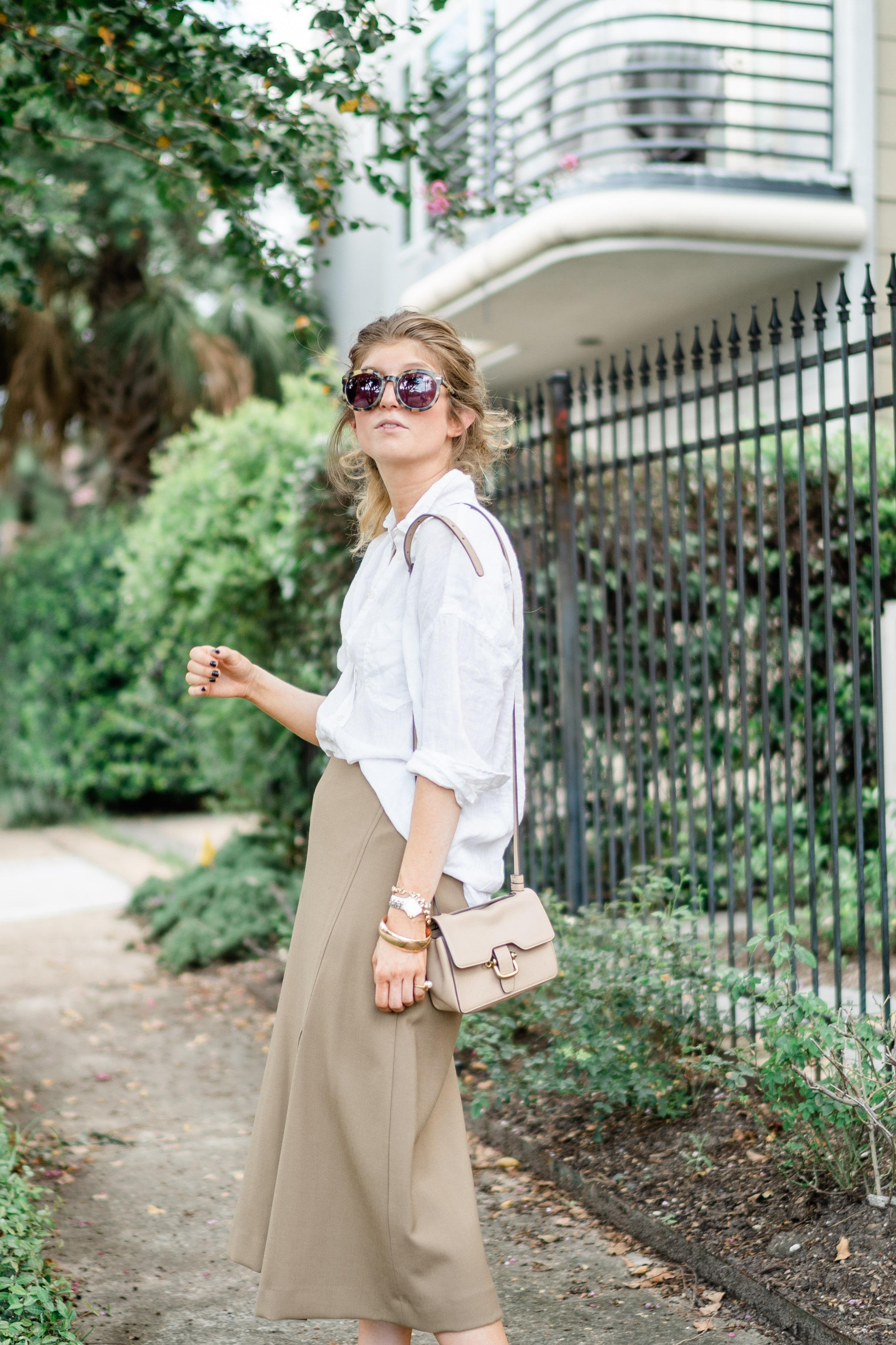 Midi Skirts Meet Linen