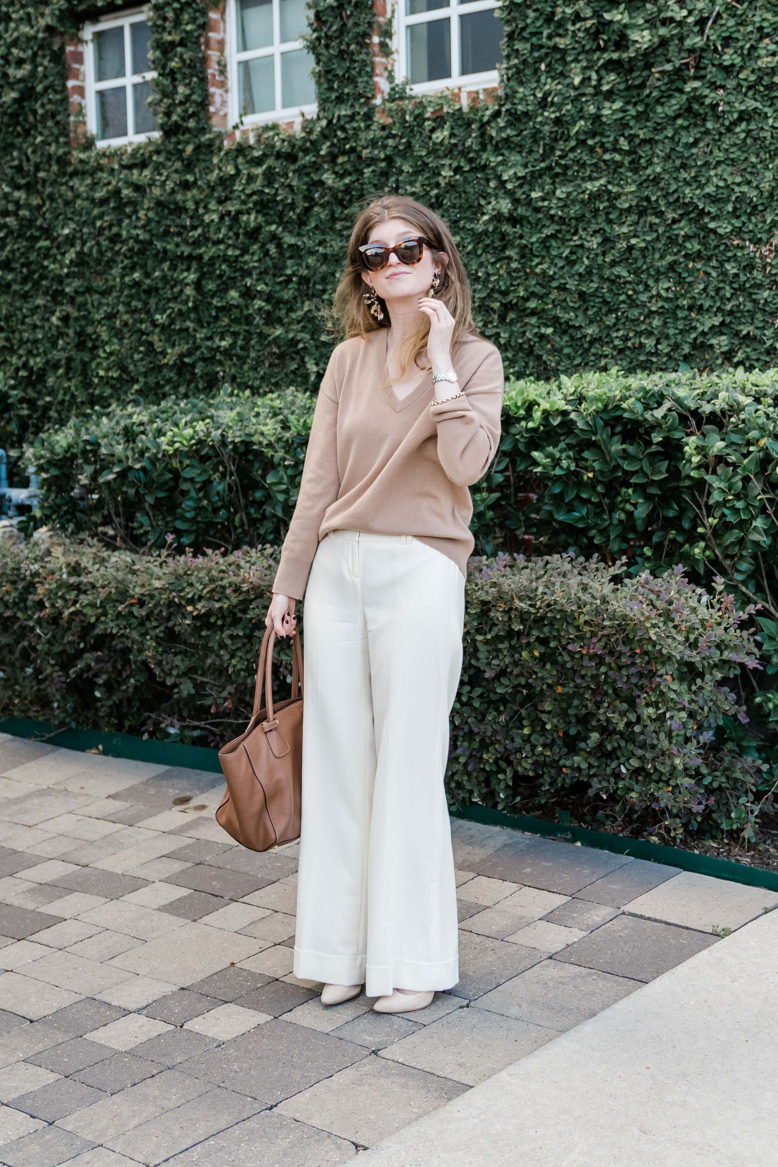 Ivory and Camel Trousers